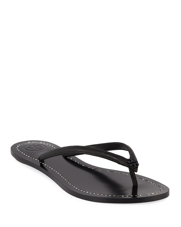 2d8b05456 Tory Burch Liana Flat Leather Thong Sandals