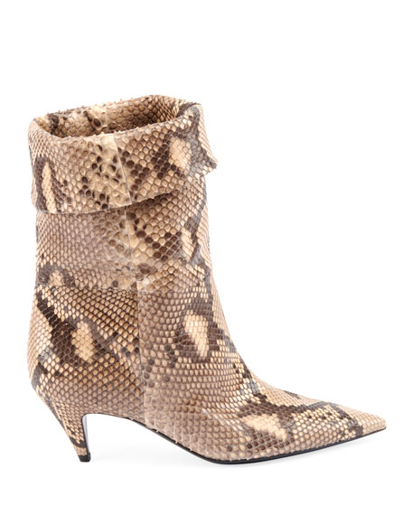 Charlotte Python Pointed Booties