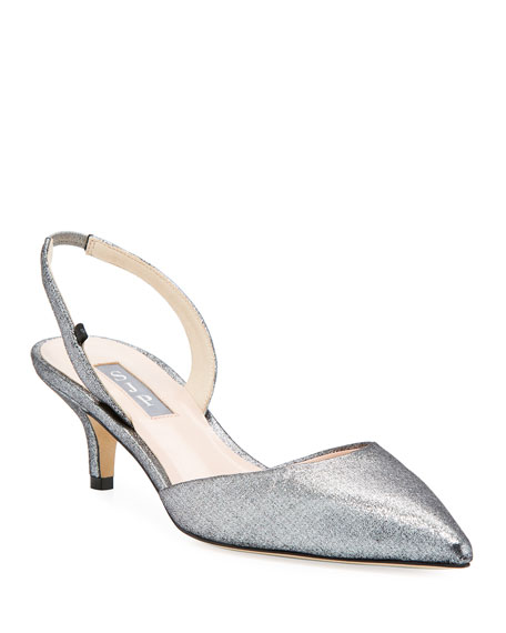 SJP by Sarah Jessica Parker Bliss Metallic Kitten-Heel