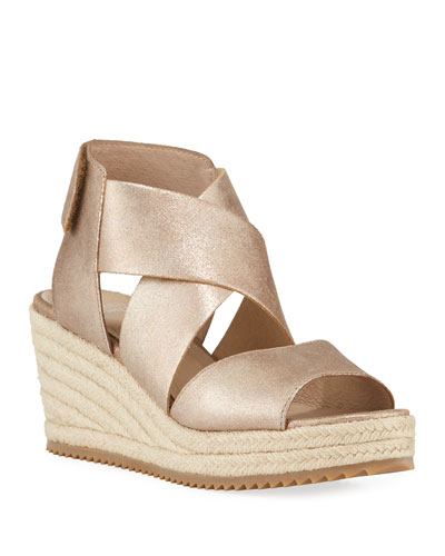 Willow Metallic Wedge Espadrilles