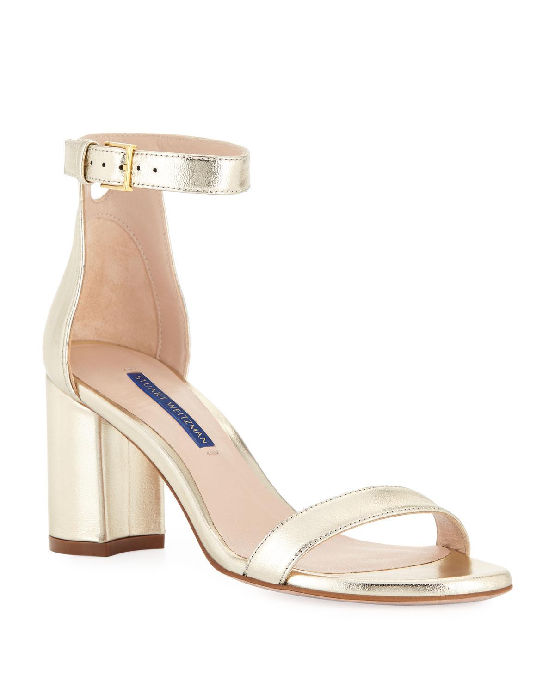 ef04edf27adc Stuart Weitzman LessNudist Metallic Sandals