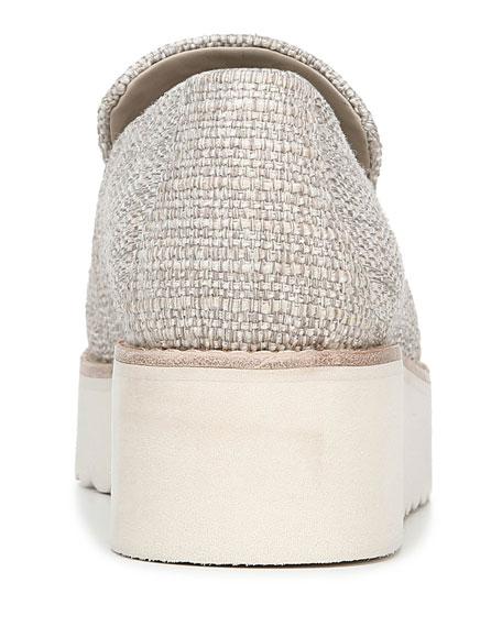 Vince Zeta Linen Platform Loafers