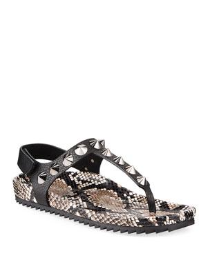 5eabb2bce158 Pedro Garcia Athena Studded Thong Sandals