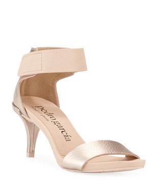 5b019f1b4 Pedro Garcia Winka Metallic-Leather Sandals
