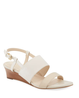 66db28bef Cole Haan Annabel Grand Leather Wedge Sandals