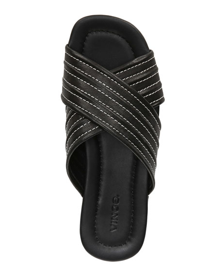 Vince Camden Quilted Flat Sandals