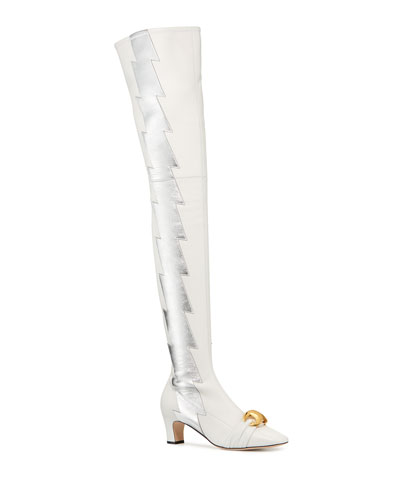 Usagi Lightning Over-the-Knee Leather Boots