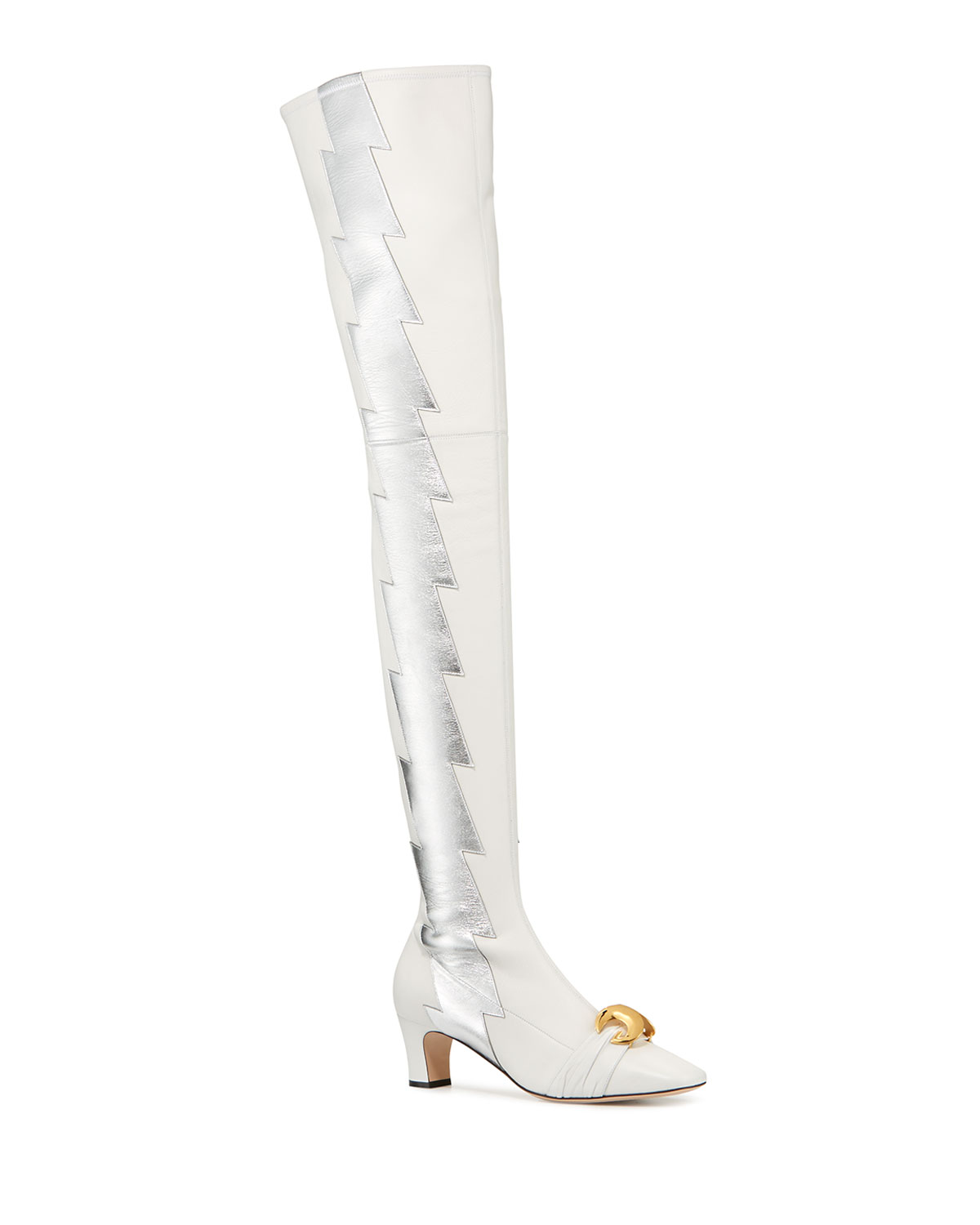 c61a2712160 Gucci Usagi Lightning Over-the-Knee Leather Boots