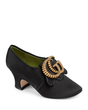 7e1f3426b41 Gucci Ortensia Satin 65mm Pumps