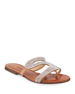 d3cb077c3 Schutz Noemi Embellished Flat Slide Sandals