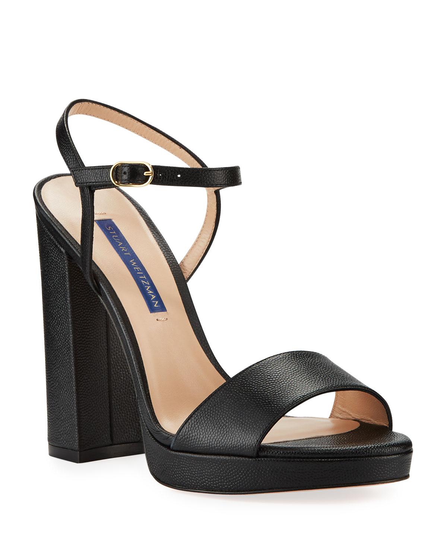 5febf1756e15 Stuart Weitzman Sunray Leather Platform Sandals