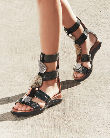 Chloe Wanda Flat Tall Gladiator Sandals