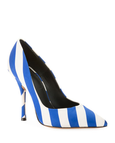 Striped Fabric Pumps