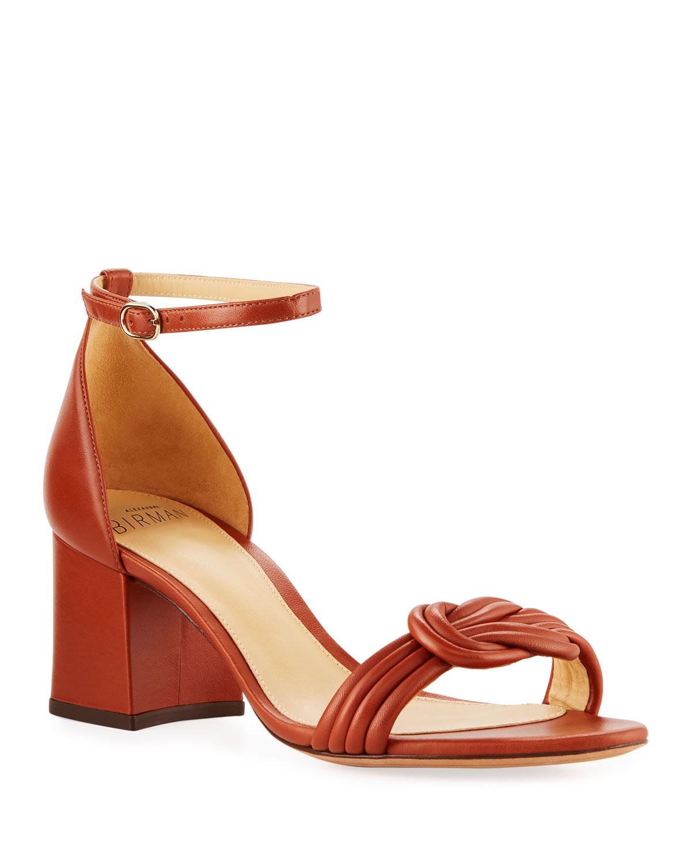 9fa7a6bcb6289 Alexandre Birman Vicky Knot Leather Sandals
