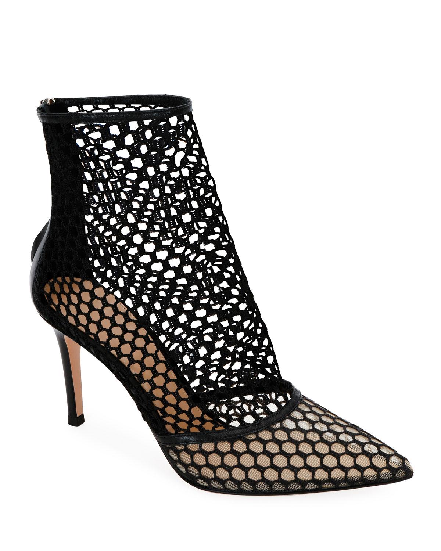 57268801dae5 Gianvito RossiFishnet High-Heel Booties