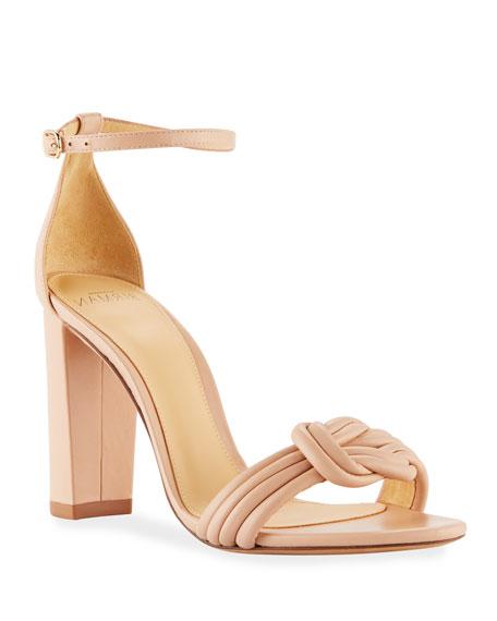 Alexandre Birman Vicky Knot Leather Sandals