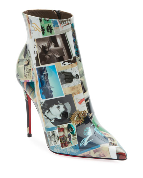 Christian Louboutin So Kate Collage Patent Red Sole Booties