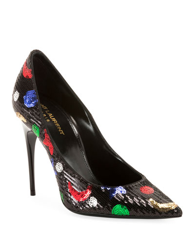 Palace Sequined High-Heel Pumps