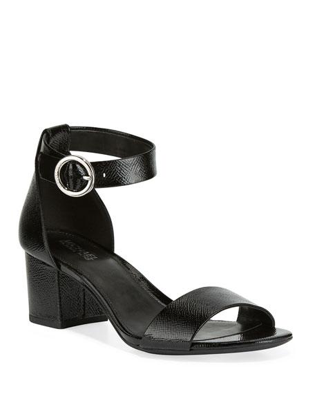 MICHAEL Michael Kors Lena Flex Patent Ankle-Strap Sandals