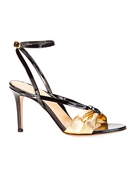 Marion Parke  LUCY STRAPPY METALLIC SANDALS
