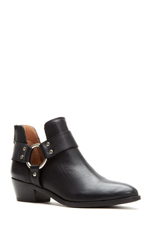 Frye Ray Leather Harness Booties