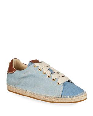 107a31754f26 Coach C101 Denim Low-Top Espadrille Sneakers