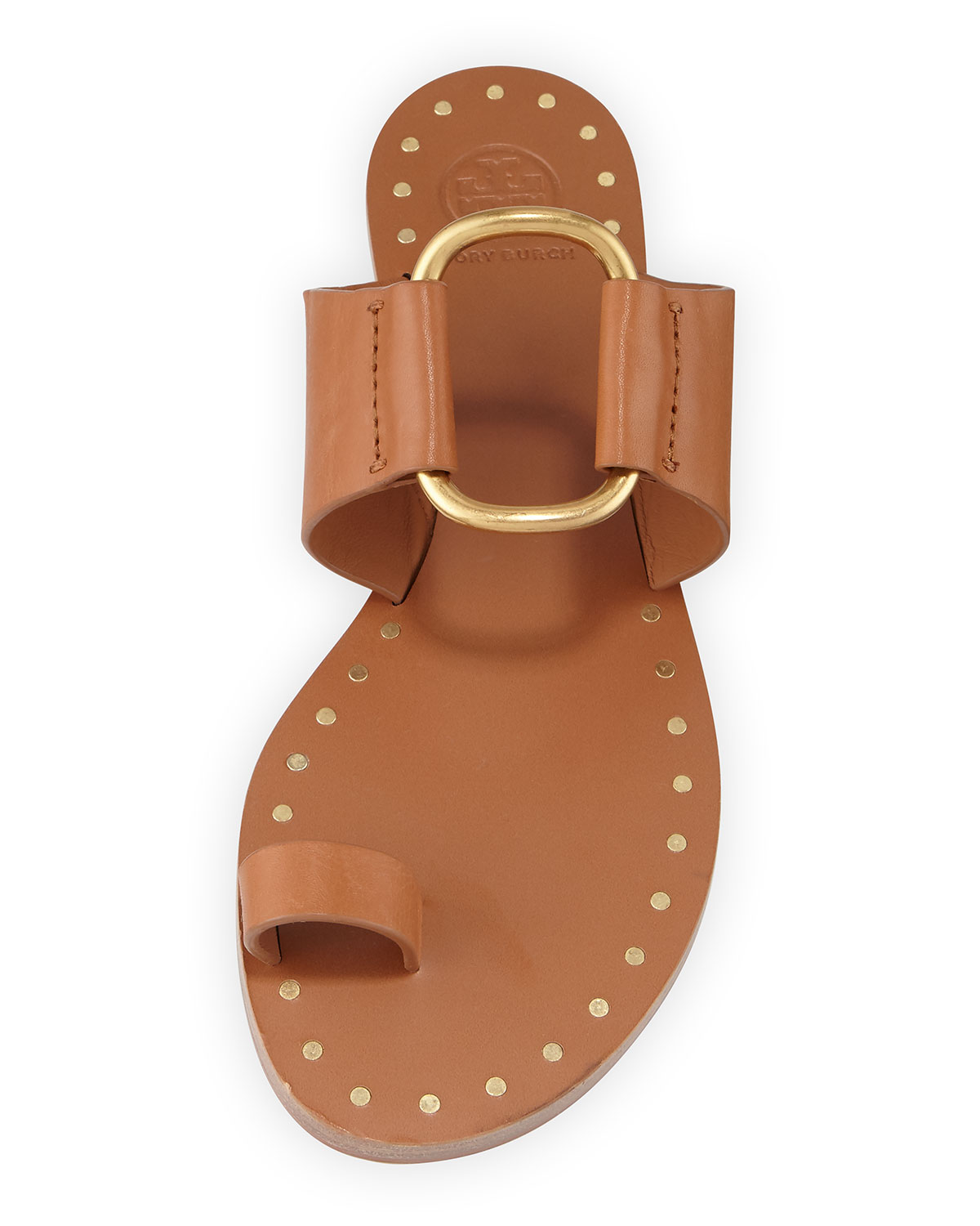 Ravello Studded Leather Ring Sandals by Tory Burch