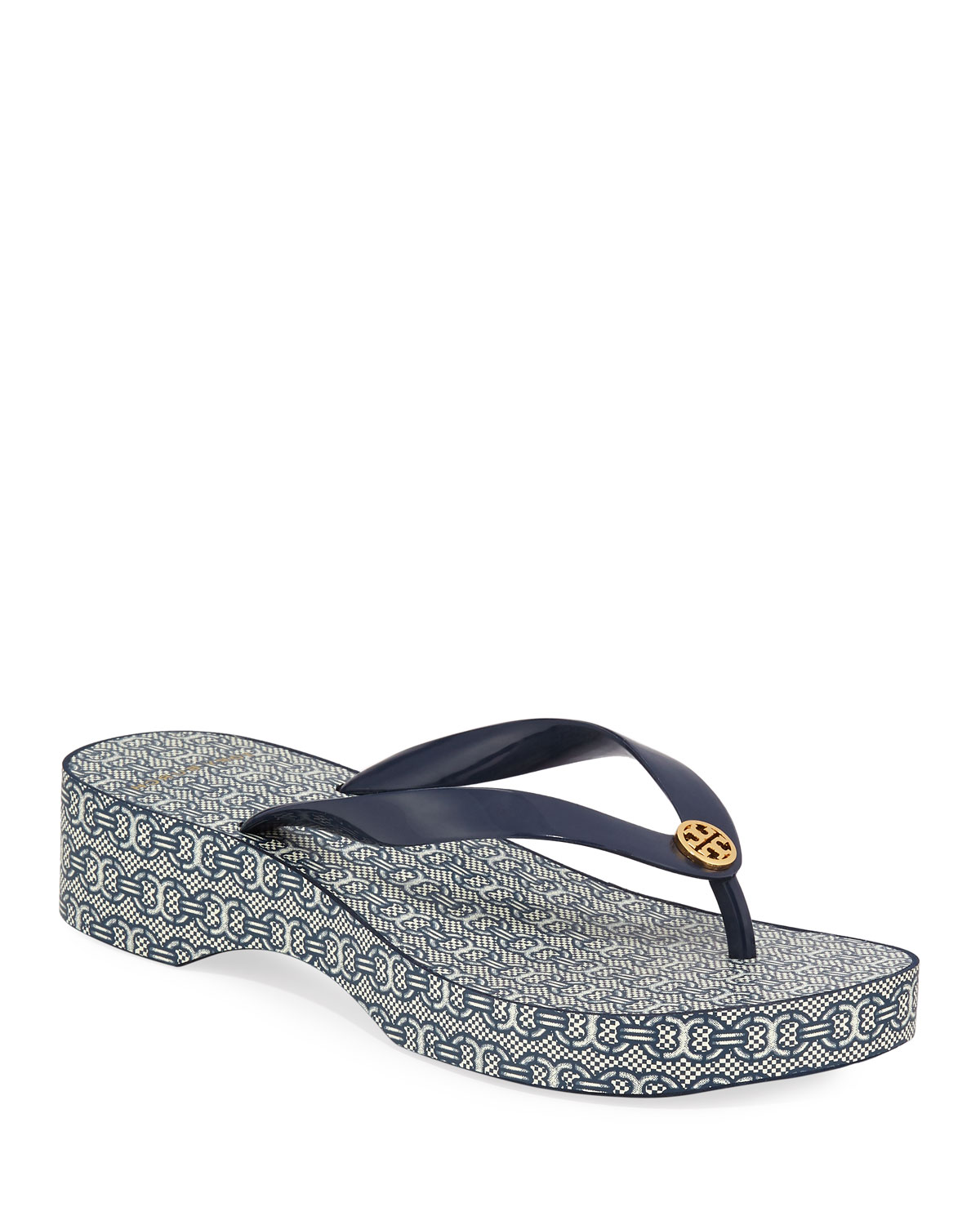 3db23e6572c3 Tory Burch Cutout Wedge Flip-Flop Sandals