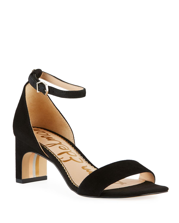 21a02d89dba Sam Edelman Holmes Suede Ankle-Strap Sandals