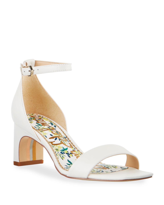 a5fd3e4059e8 Sam Edelman Holmes Leather Ankle-Strap Sandals