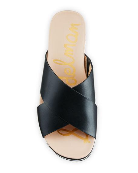 b6071eac3c95 Image 3 of 4  Audrea Leather Platform Slide Sandals
