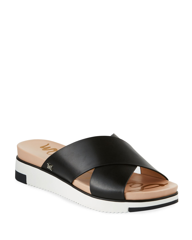414149f72160 Sam Edelman Audrea Leather Platform Slide Sandals