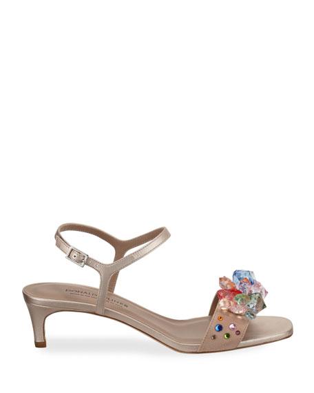 Donald J Pliner Delila Jeweled Suede Sandals