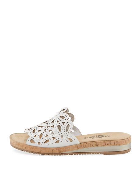 Sesto Meucci Senta Floral Cutout Comfort Sandals, White