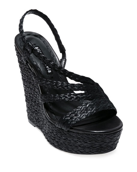 Alice + Olivia Tenley Strappy Wedge Sandals