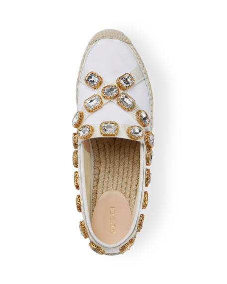 Gucci Pilar Embellished Platform Espadrilles