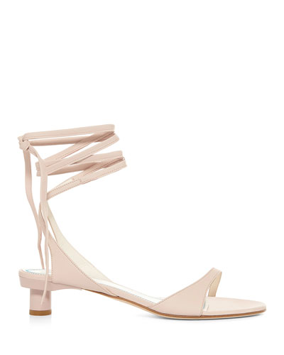 Scott Ankle-Tie Leather Sandals