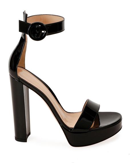 Gianvito Rossi Patent Platform 100mm Sandals