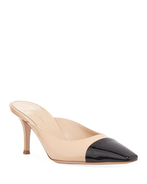 422a59ab89a Gianvito Rossi Suede Slingback Mule Pumps
