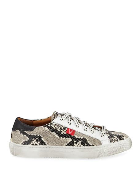 Veronica Beard Sami Python-Print Low-Top Sneakers