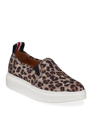 245d85a170d9 Veronica Beard Westley Leopard Slip-On Sneakers