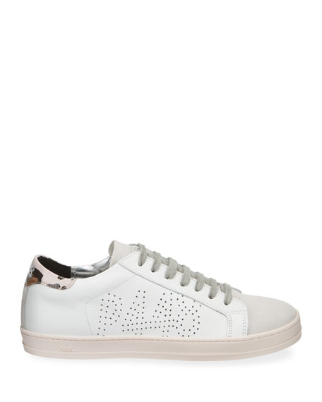 P448 John Low-Top Metallic Leather Sneakers
