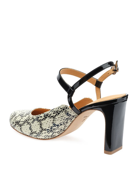 Bill Blass Ilia Snake-Print Pumps