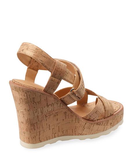 Bill Blass Rae Cork Wedge Sandals