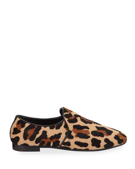 Aquatalia Revy Leopard Calf Hair Loafers
