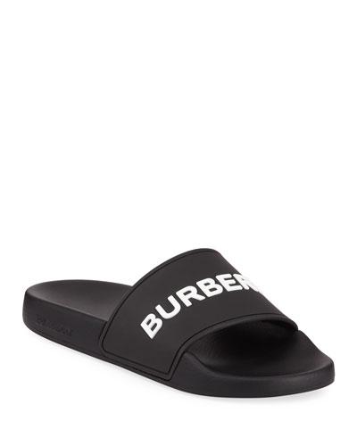 Furley Logo Pool Slide Sandals
