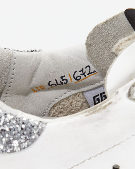 Golden Goose Limited Edition Superstar Glittered Croc-Print Trainer Sneakers