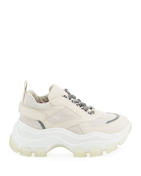Prada Suede Lace-Up Chunky Platform Sneakers