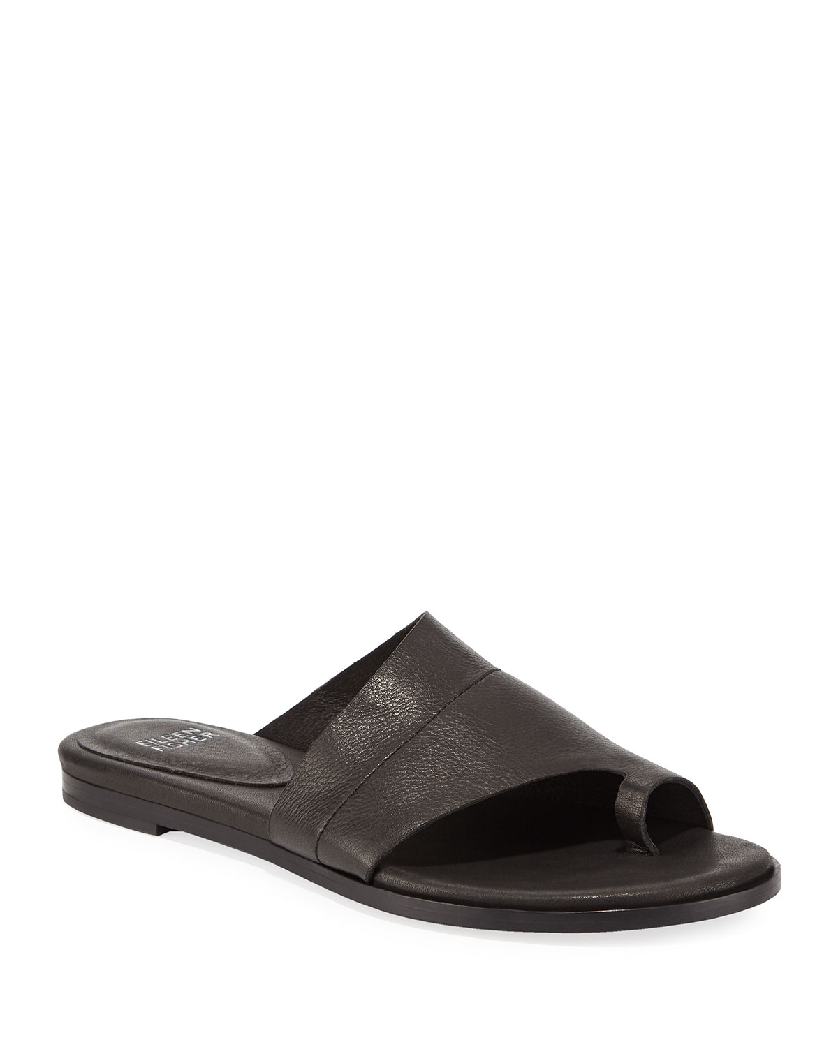 e422ab68a Eileen Fisher Ty Washed Leather Flat Sandals