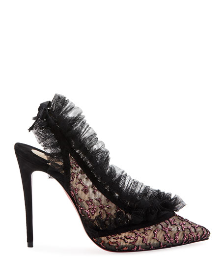 Christian Louboutin Incarna Lace Red Sole Pumps